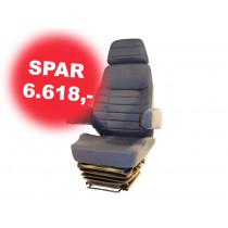 Luftsæde 714/Van 24V Varme/Lænest. Blå *