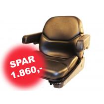Sæde Sort Nappa,Kontakt,Armlæn,1200 Seri *
