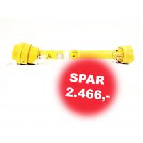 "Aksel 1210 X - 1 3/8"" 6 spl. 80°"